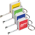 Square Tape Measure Key Tags